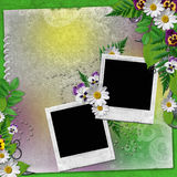 Frame for two photos Stock Photo