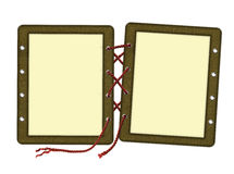 Frame for two photos, laces Royalty Free Stock Photo