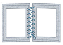 Frame for two photos with laces Stock Photography