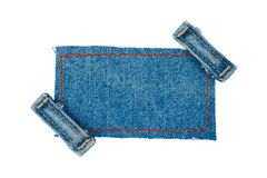 Frame with two straps jeans Royalty Free Stock Images