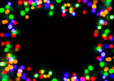 Frame of unfocused colored lights Royalty Free Stock Images