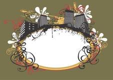 Frame urbano ilustração do vetor