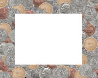 Frame of US cents Stock Images