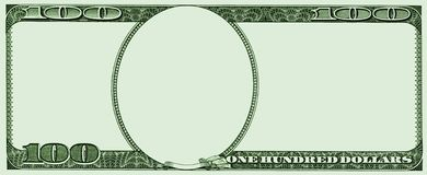 Frame from 100 USA dollars stock illustration