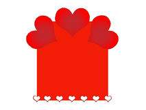 Frame for valentine day Stock Image