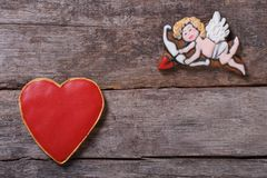 Frame for Valentine's Day. Royalty Free Stock Images
