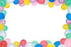 Frame van ballons dat op witte achtergrond wordt geïsoleerdk Stock Fotografie