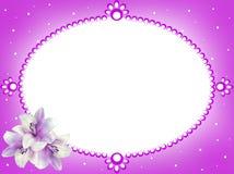 Frame van bloemen extra dossier PNG royalty-vrije stock afbeeldingen