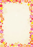 Frame van bloemen, vector Royalty-vrije Stock Foto's