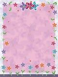 Frame van de Vlinders van bloemen het Kleine Royalty-vrije Stock Foto