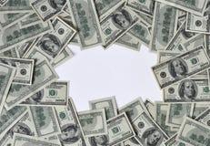 Frame van dollars Stock Foto