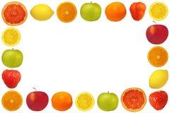Frame van fruit en bessen Stock Foto's