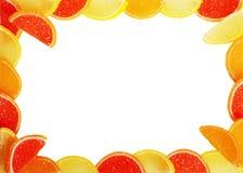 Frame van fruitsuikergoed Royalty-vrije Stock Foto