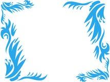 Frame van Gewaagde Blauwe Installaties Royalty-vrije Stock Fotografie