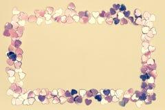 Frame van harten Royalty-vrije Stock Foto's
