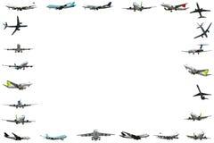 Frame van het vliegtuig isloated op witte achtergrond Stock Afbeeldingen