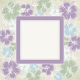 Frame van hibiscus, vector vector illustratie