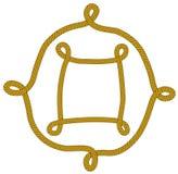 Frame van knoop Royalty-vrije Stock Afbeeldingen