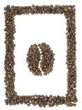 Frame van koffie met koffiesymbool Stock Fotografie