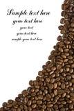 Frame van koffie met krommeoverzicht stock foto's