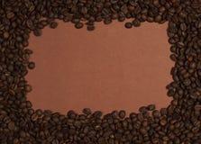 Frame van koffiebonen Stock Afbeelding