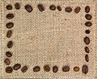 Frame van koffiebonen Stock Foto's