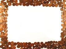 Frame van muntstukken royalty-vrije stock foto