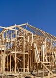 Frame van nieuwe huisbouw Stock Foto's