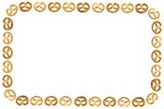 Frame van pretzel stock foto's