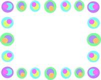 Frame van Retro Cirkels en Kleuren vector illustratie