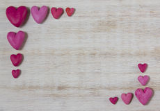 Frame van rode harten Stock Foto's