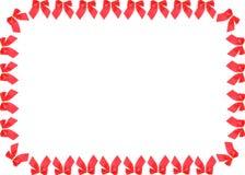 Frame van rode linten Stock Afbeelding