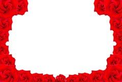 Frame van rode rozen Royalty-vrije Stock Afbeeldingen