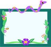 Frame van Slang, Retro Bloemen, en Insecten royalty-vrije illustratie