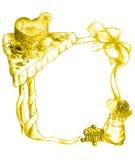 Frame van snoepjes - goud Royalty-vrije Stock Afbeelding