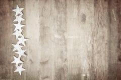Frame van sterren op hout stock fotografie