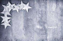 Frame van sterren op hout Royalty-vrije Stock Afbeelding
