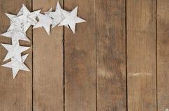 Frame van sterren op hout Royalty-vrije Stock Fotografie