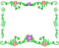 Frame van Tropische Grenzen en Bloemen stock illustratie