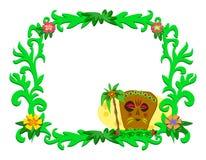 Frame van Tropische Installaties en Tiki stock illustratie