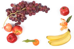 Frame van verse vruchten Stock Foto's