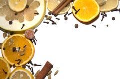 Frame van vruchten Stock Afbeeldingen