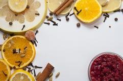 Frame van vruchten en jam Royalty-vrije Stock Foto's