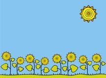 Frame van zonnebloemen Royalty-vrije Stock Foto's