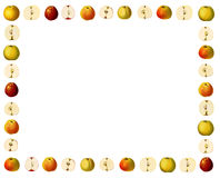 Frame with varieties of apples Royalty Free Stock Photo