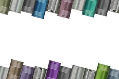 Frame of variety cans Royalty Free Stock Photos