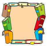 Frame from various books Royalty Free Stock Image