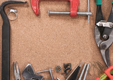 Frame of various tools Stock Images