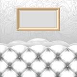 Frame vazio com sofá Foto de Stock Royalty Free
