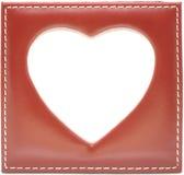 Frame vazio na forma do coração Imagens de Stock Royalty Free